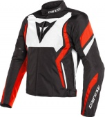 Мотокуртка Dainese Edge Tex N32, blk/wh/fluo-red