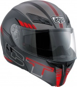 Мотошлем AGV Compact ST E2205, Seattle Matt blk/silver/red
