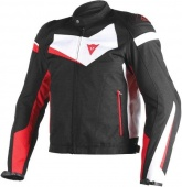 Мотокуртка Dainese Veloster Tex 858, blk/wh/red