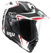 AGV Мотошлем AX-8 Dual EVO E05 multi gt, white/gunmetal/red