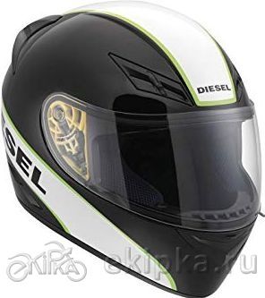 AGV Мотошлем Full-jack diesel e2205 multi - logo, black/white/green