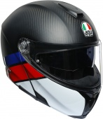 Мотошлем AGV Sportmodular Layer, carbon/red/blue