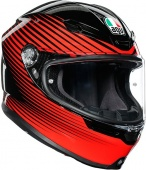 Мотошлем AGV K6 Rush, black/red