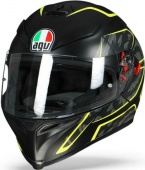 AGV Мотошлем K-5 s multi plk, tornado matt black/yellow fluo