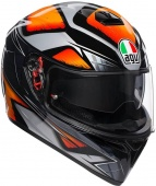 Мотошлем AGV K-3 sv multi plk, liquefy black/orange