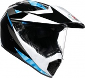 Мотошлем AGV AX-9 North, black/white/cyan