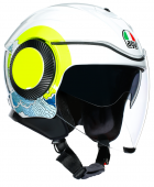 Мотошлем AGV Orbyt Multi Sunset, white/yellow fluo