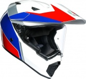 Мотошлем AGV AX-9 Atlante, white/blue/red