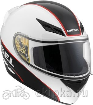 AGV Мотошлем Full-jack diesel e2205 multi - logo, white/black/red