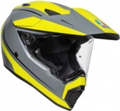 Мотошлем AGV AX-9 PAC. R. M., grey/fluo yellow/black
