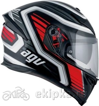 AGV Мотошлем K-5 s e2205 multi plk firerace, black/red