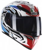 Мотошлем AGV K-3 sv e2205 multi - rookie, white/blue/red