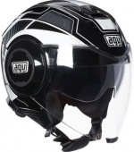 AGV Мотошлем Fluid, multi-soho black/white