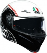Мотошлем AGV Compact ST Detroid, white/black