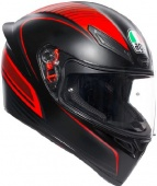 AGV Мотошлем K1 multi, warmup matt black/red