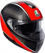AGV Мотошлем Sportmodular e05 multi plk aero, carbon/red