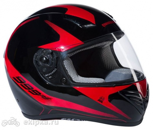 Marushin шлем 999 RS, Et start up II, Black/Red