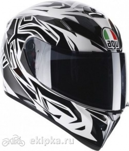 Мотошлем AGV K-3 sv e2205 multi - rookie, white/gunmetak/black