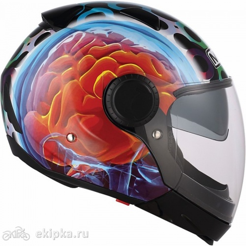 MDS мотошлем Sunjet multi - brainstorm black